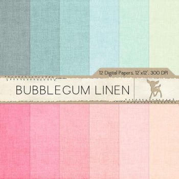 Bubblegum Linen Digital Paper by MyDearMemories