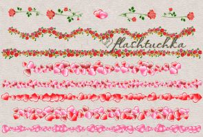 Pink Hearts Valentine Dividers by flashtuchka