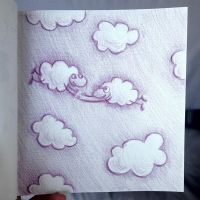 Sheep floating in the sky by azzza