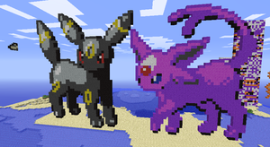 Umbreon and Espeon by pltshp