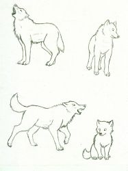 Free Wolf Lineart by nessygirl