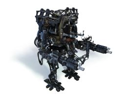 Mech from Matrix revolutions by lebowitz