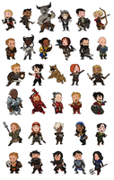 Dragon Age Chibis by pfennings