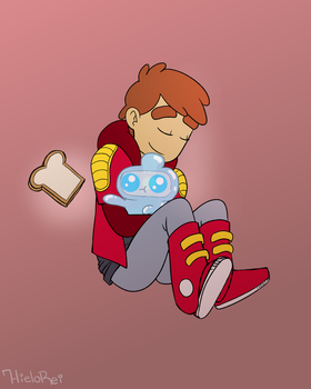 Danny and Jelly Kid by hielorei