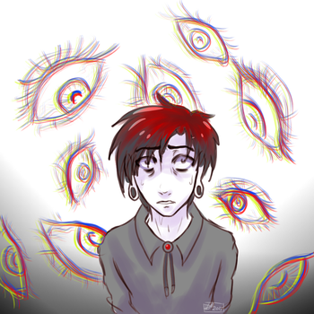 Day 5: Lots of Eyes by vdaze-art