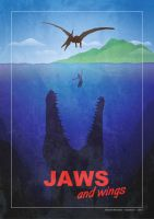 Jurassic World..or JAWS and wings ! by Vanishin