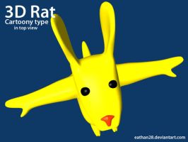 3D rat Top by eathan28