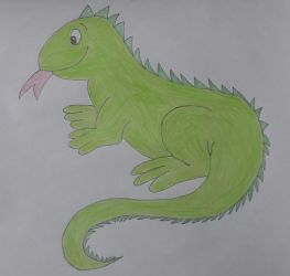 Drawing of Iguana by jcpag2010