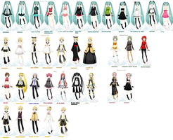 Vocaloids from KawaiiPandah's game by ToyBonnieSenpai