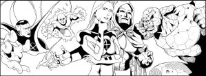 Fantastic Four FB cover by NathanKroll