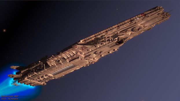 Battlecruiser WiP8 (belly of the beast) by ACXtreme