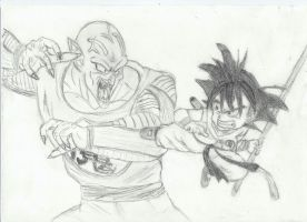 Goku vs Piccolo by Daviciano