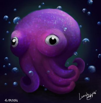 Googly-Eyed' Stubby Squid by Lunalight