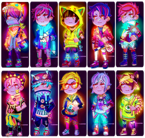 [CLOSED] NEON PUNK ADOPTABLES 002 by txunnpae