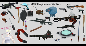 [MMD] BGT Weapons and Tools DL ~ by o-DSV-o