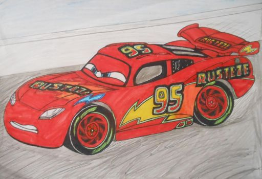 Cars 3: custom Lightning McQueen on race track by sgtjack2016