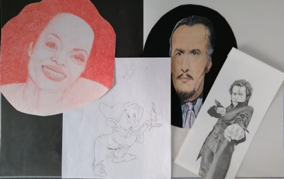 Diana Ross, Dopey, Christoper Lee, Adam Ant. by shortpencilstudios