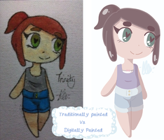 Digital vs traditional Colouring by kangaroo722