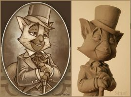 Lackadaisy Maquette: Wick by ShapeStrong
