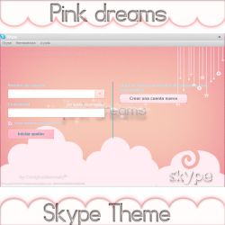 Pink Dreams Skype Theme by candybubblesweety