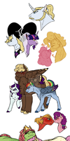 MLP Shipping Doodles by minsona