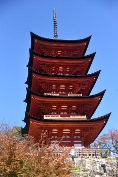 Miyajima pagoda 1 by wildplaces