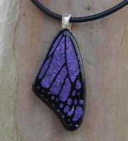 Pur. Medium Fused Glass Wing by FusedElegance