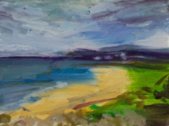 Seascape oil painting sketch by scifo