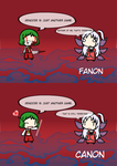 Yuuka's Genocide Quote: Canon VS Fanon by exfodes