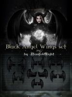 Black Wings Set By Starscoldnight by StarsColdNight