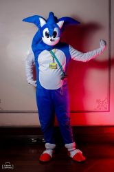 Sonic The Hedgehog Cosplay Pose 02 - Mania Pose by ChechelEXGBR