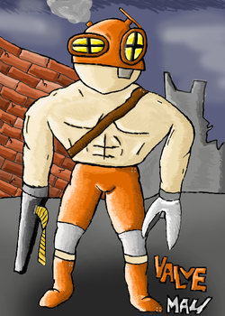 Valve Man Drawing by Sanguinex