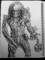 Predator pencil drawing by james-olley
