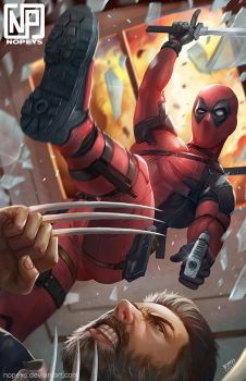Deadpool Vs Logan by NOPEYS