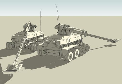 Military mine detector concept by mspisz