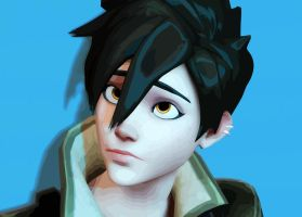 Tracer (Hair) - Overwatch by SyNcmE