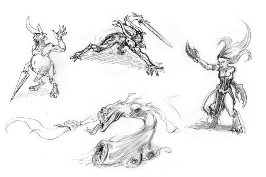 Demons sketches by zompf