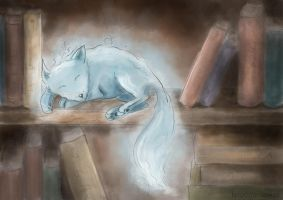 Fox the ghost by Lisekniuk