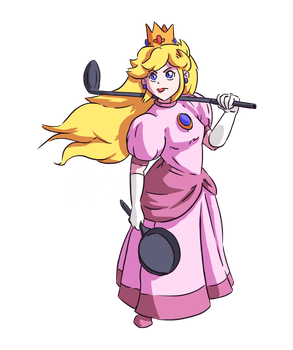 Peach: Belle of the Brawl by looloopaa