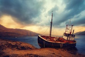 Lonely Boat by Matthias-Haker
