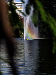 fountain in park by ady2fast