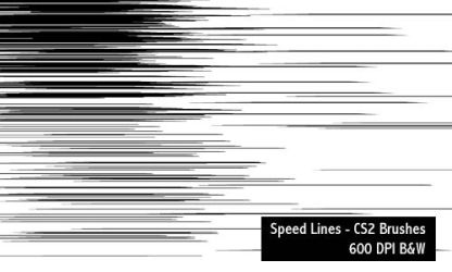 Speed Lines - 600 DPI by screentones