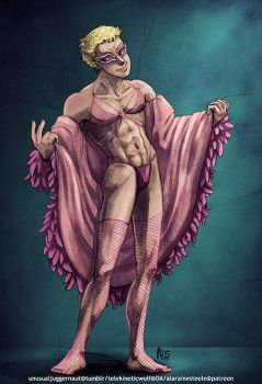 Doflamingo in some Lingerie too. by UnusualJuggernaut