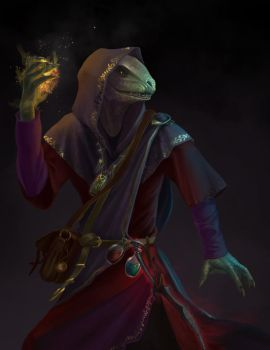 Mage Argonian by Nafrin