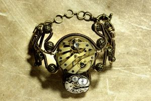 Steampunk Cuff Bracelet - Watch Movement by CatherinetteRings