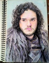 Jon Snow portrait by TheComicArtist