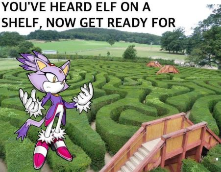 Blaze The Cat: Elf On The Shelf Meme by sonic171000