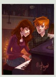 R_Hr playing piano color by mary-dreams
