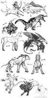Sketch-A-Day Compilation (Jan. 2nd - 11th) by Nagrandia