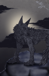 Grayscale Wolf by devALLjapan